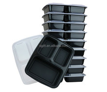 3-Compartment Microwave Safe Food Container with Lid/Lunch Tray with Cover