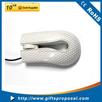 Wholesale custom cute crystal optical wired usb computer mouse