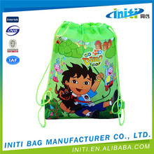 Printed custom recycled 190T polyester shopping bag