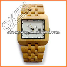 Trade Assurance Watches 2015 New Products Men's With Genuine Leather Band Luxury bamboo wooden watch for Men Best Gift