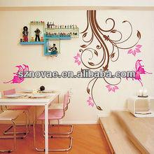 XWJ-151 Butterflies over trees Beautiful Fashion PVC Wall Decorative Sticker