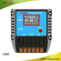 industrial chip 10A12v short circuit protection pwm solar charge controller with output switch and USB port