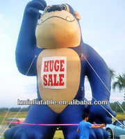 30ft tall blue inflatable gorilla