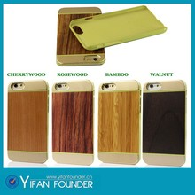 Luxury Aluminum+wood+pc cover wooden case for iPhone 6 4.7''