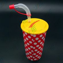 Newest best sell colored 3d lenticular plastic straw cup