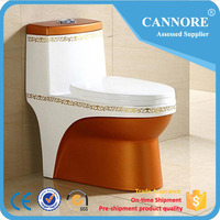 Hot Sale Bathroom Siphonic One Piece Brown Color Toilet