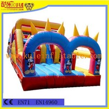 KULE new design lovely inflatable fun city for sale/colorful inflatable playground equipment