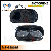 Harley Motorcycle Projector Dual LED Headlight for '04-'13 Road Glide Head Driving Lamp