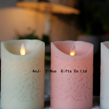 Wholesale flameless Moving wick Light Up Led Candles manufacturer