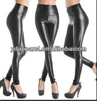 plus size sexy ladies high waist stretch faux leather look tights black leggings,matt black treggings,satin&bright black tights