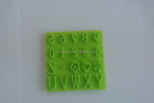kitchen utensil 0 - 9 numbers silicone fondant mold, 3d silicone molds