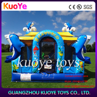 seaworld inflatable bouncer,inflatable dolphin bouncy castle,inflatable trampoline jumper
