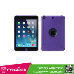 Silicone + Plastic Hybrid With Retina Display & Screen Protector Cover For iPad Mini 2