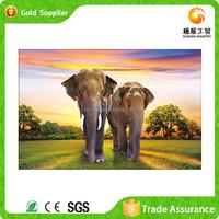 Hot design wall art luxury love elephant painting diy round diamond crystal animal diamond painting