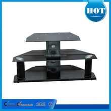 new design high quality tempered glass lcd tv stand