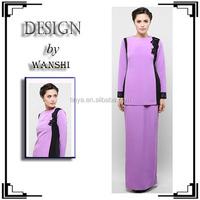 High fashion contrast simple design women fashion casual muslim