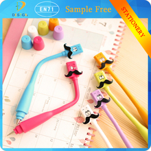 Novelty creative Korean school supply Wacky expressions cube Beard flexible pen