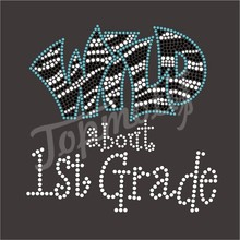 Rhinestone Letter Transfers Wild About 1St Grade Wholesale Iron On Appliques