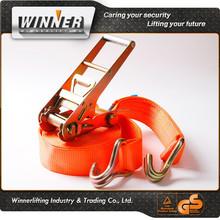 retractable ratchet type tie down building materials