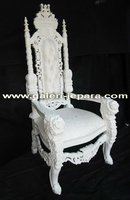 Antique Furniture - Lion King Chair with Rose Carving - Furniture Mahogany Indonesia