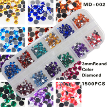 3MM round nail art decoration Rhinestones for beauty salon New Arrive Accessaries Nail Nail Supplies 13 items