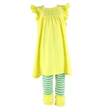 2015 summer cheap china wholesale kids boutique clothing girls ruffle fashion dress