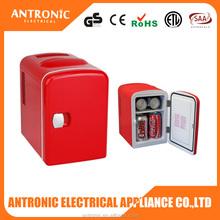 Red color painting lightweight portable cute car use 4l mini fridge 12v cold drink fridge energy drink fridge