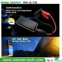 wireless charger car jump starter and battery charger for mobile devices with carrying case - boost of 400a