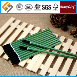 special painting new green body wooden pencil with white circle