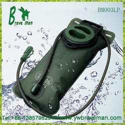 Factory wholesale price camping Portable Military Water Bladder with Pipe Sleeve