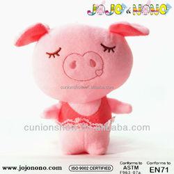 soft stuffed plush custom cute cheap dancing plush pig toy