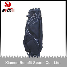 High quality custom leather golf cart bags/golf bag display