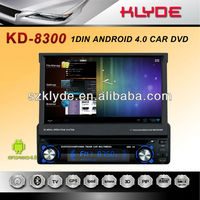 new design 1din android 4.0 car dvd with GPS and bluetooth