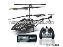 Helicóptero del rc caliente 2.4G 3CH aleación con el girocompás, helicóptero con luces LED