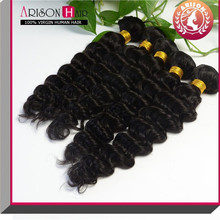 2015 Hot Selling Wholesale Unprocessed Virgin Brazilian Jerry Curl Hair Weave