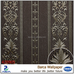 Barca 4209 series Classic european elegant damask embossed 3d wallpaper for home decoration