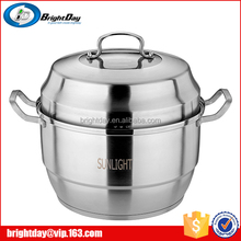 China steamer pot factory electric large stainless steel steamer