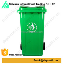 240l plastic waste bin with caster wheel for outdoor
