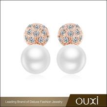 OUXI Alibaba wholesale traditional stud cheap pearl earrings