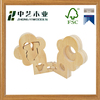 OEM&ODM handmade unfinished wood child craft toy flower wooden puzzle toys for children