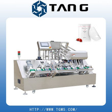 new automatic 2 head facial mask filling sealing machine