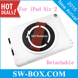 360 Degree Rotation Rotary Stand Leather Case for iPad Air 2/ IPAD 6