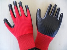 13GUAGE ZEBRA POLYESTER SHELL COATED NITRILE GLOVES SMOOTH FINISH WORK WORKING LABOR SAFETY GLOVES