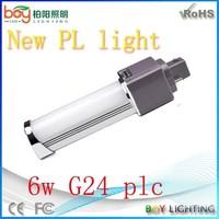 New 6W G24 Base LED Lamp LED PLC light 4-pin pl led lamp led pl lamp g24q-3 base