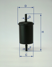 Auto Fuel Filter for BMW with OEM:13 31 1 256 492 13 32 1 256 492