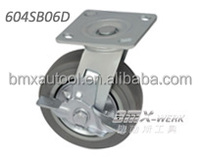 4inch Heavy Duty Flat Tread TPR Caster with Side Brake