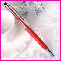 Hot selling good quality crystal stylus ball pen crystal pen holder with logo