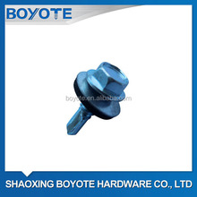 Hex Head Self Drilling Screw with Metal Bonded EPDM Washer Galvanized