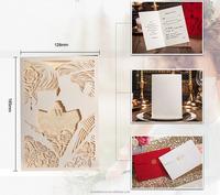 Free sample bride and groom love laser cut wedding invitation card