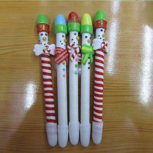 Polymer clay Christmas ball pen packed in PVC barrel